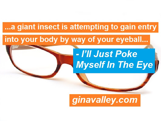 I'll Just Poke Myself In The Eye - gina valley