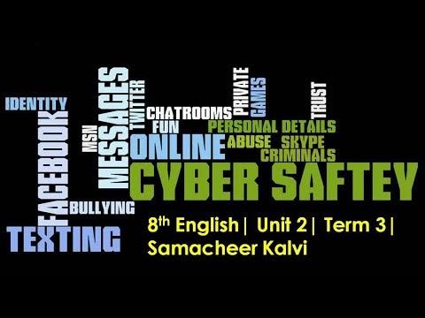 8th English Cyber Safety Unit 2 Term 3 Kalvi TV