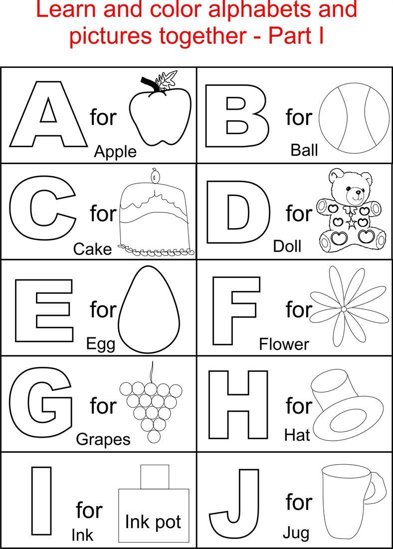Printable Alphabet Coloring Book - eassume.com