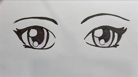 draw anime eyes step  step draw  kids youtube