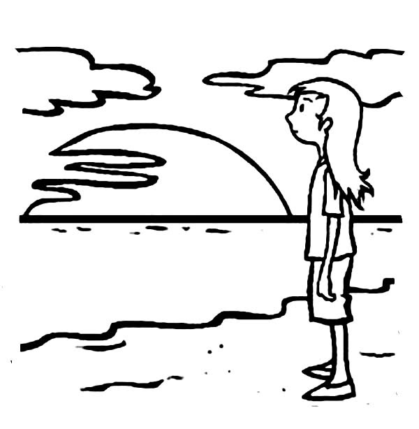 Simple Sunset Drawing at GetDrawings | Free download