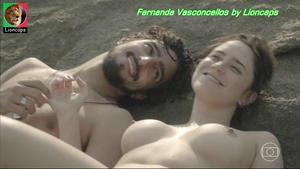 Fernadna Vasconcellos nua no filme Pequeno Dicionario amoroso 2