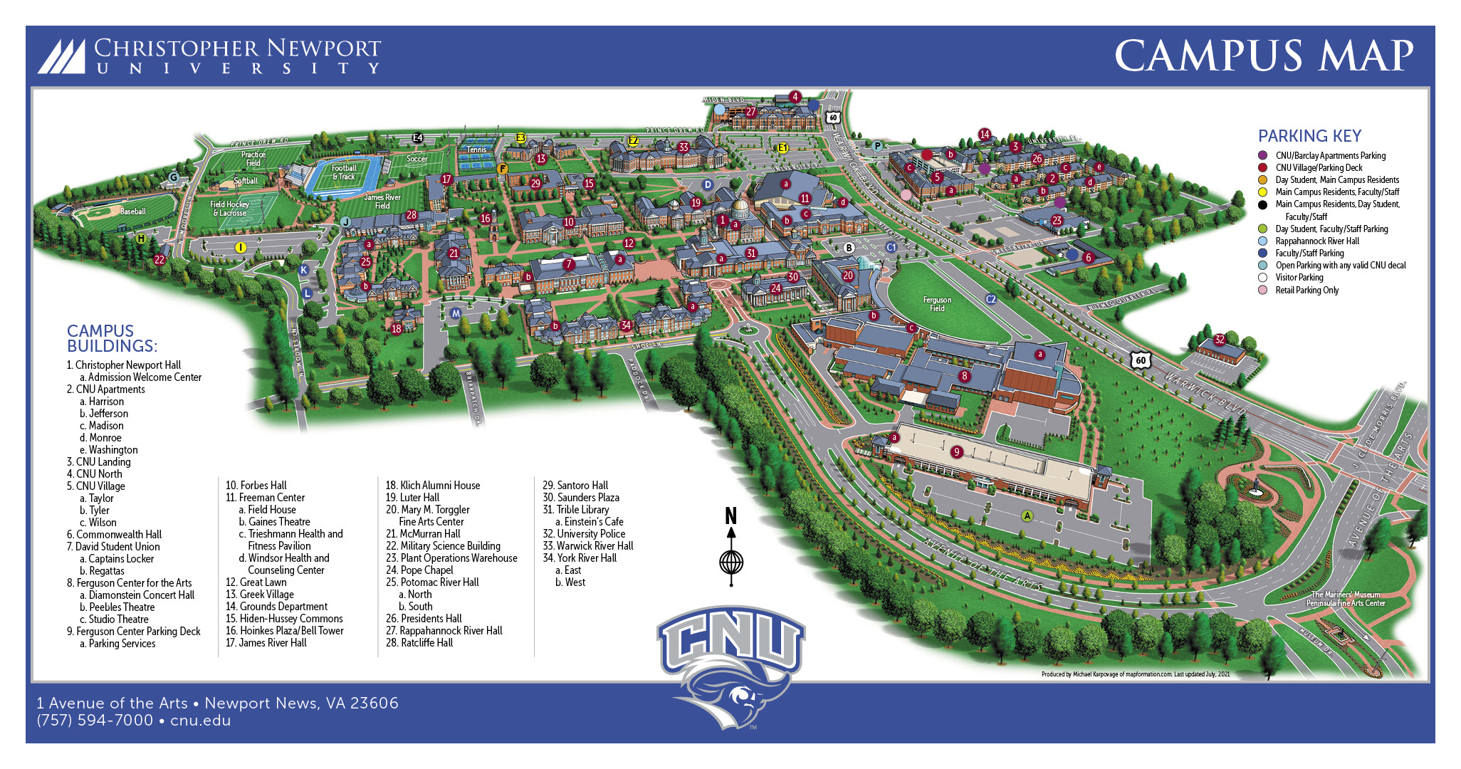 Cnu Campus Map | Earth Map on