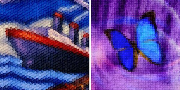 Photo mosaic photoshop plugin