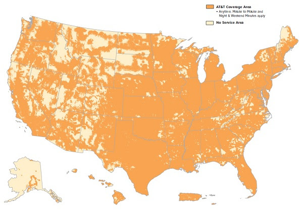 Americans brains being fried by cell towers ATT cell tower coverage map