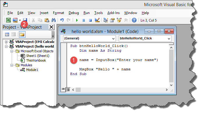 Creating your First  Visual Basic for Applications (VBA) in Excel
