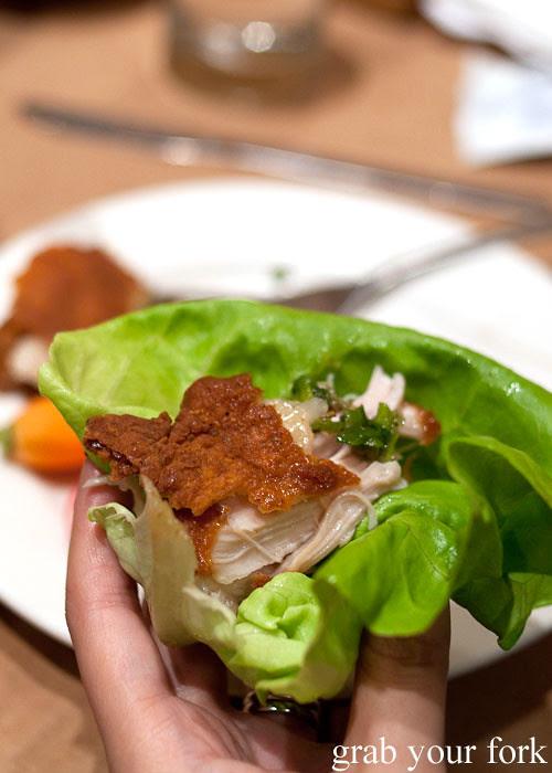 diy lettuce wrap momofuku fried chicken at momofuku noodle bar nyc new york david chang