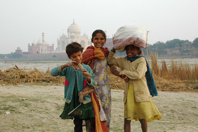 Agra en Inde et le Taj Mahal