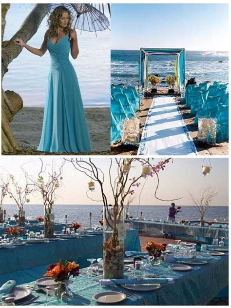 Turquoise decoration for a wedding on the beach ? Weddings