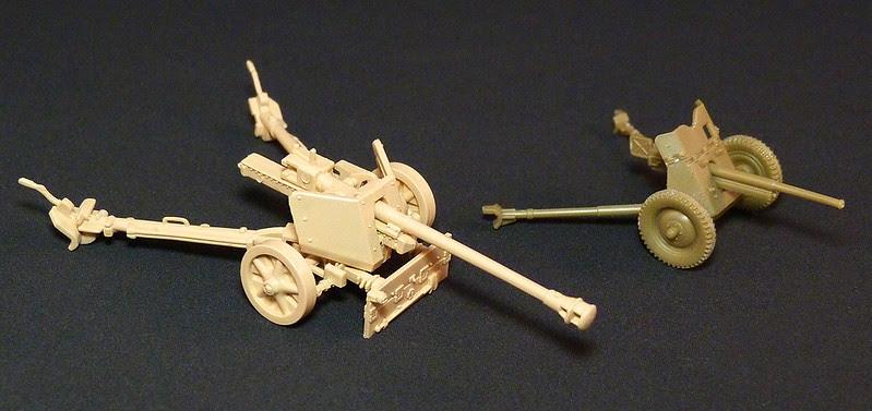 1/72 Finnish anti-tank gun models