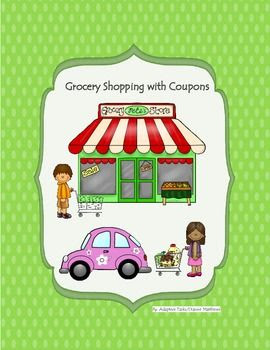 This is an important life skill task to learn how to shop, save money, follow directions, increase visual recognition, and help with fine motor skills. This product also includes a matching task that is useful for special needs.