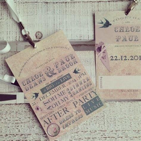 Personalised Wedding Invitations Festival Lanyard Boho