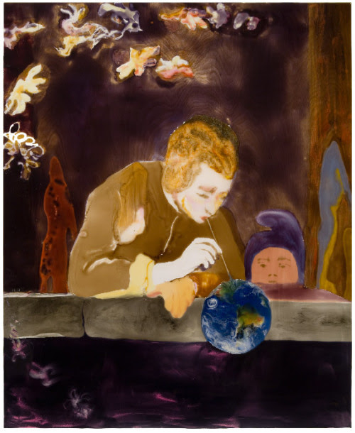 Eric FinziBlowing Bubbles (after Chardin) 2007epoxy resin on wood48 x 39 VIA