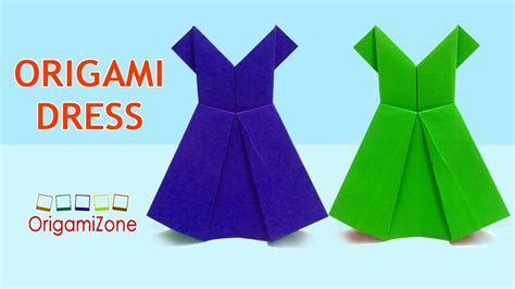 How to Make Origami Dress, Easy Origami Paper Dress, How