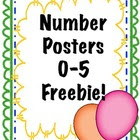Number Posters 0-5