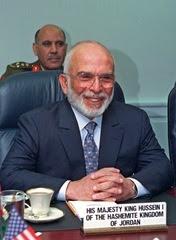 Re Hussein I di Giordania in una foto del 1997.