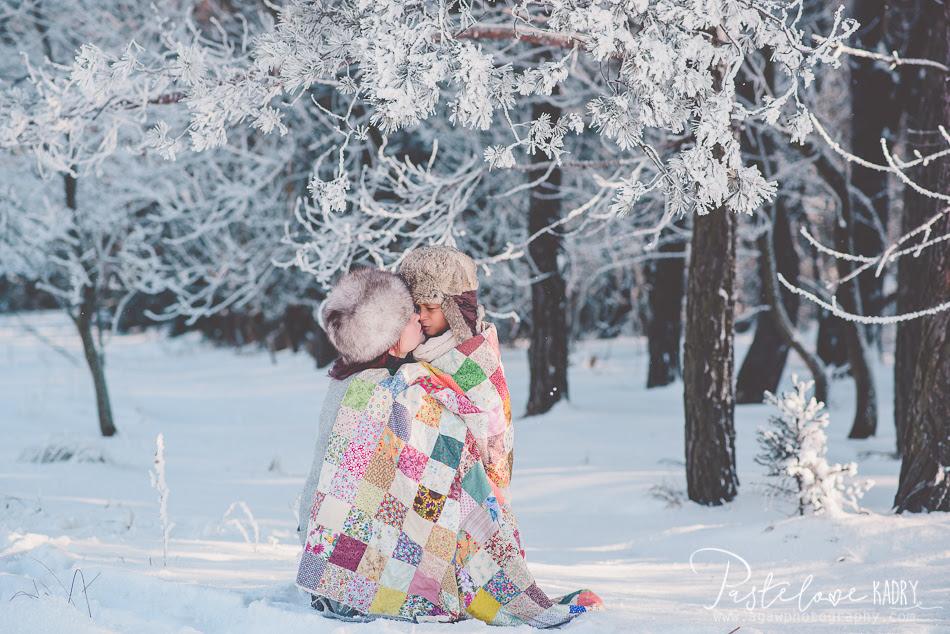 zimowa sesja dla dzieci