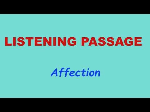4 th Std - Term2 - ENGLISH - Unit 1-Listening passage -Affection