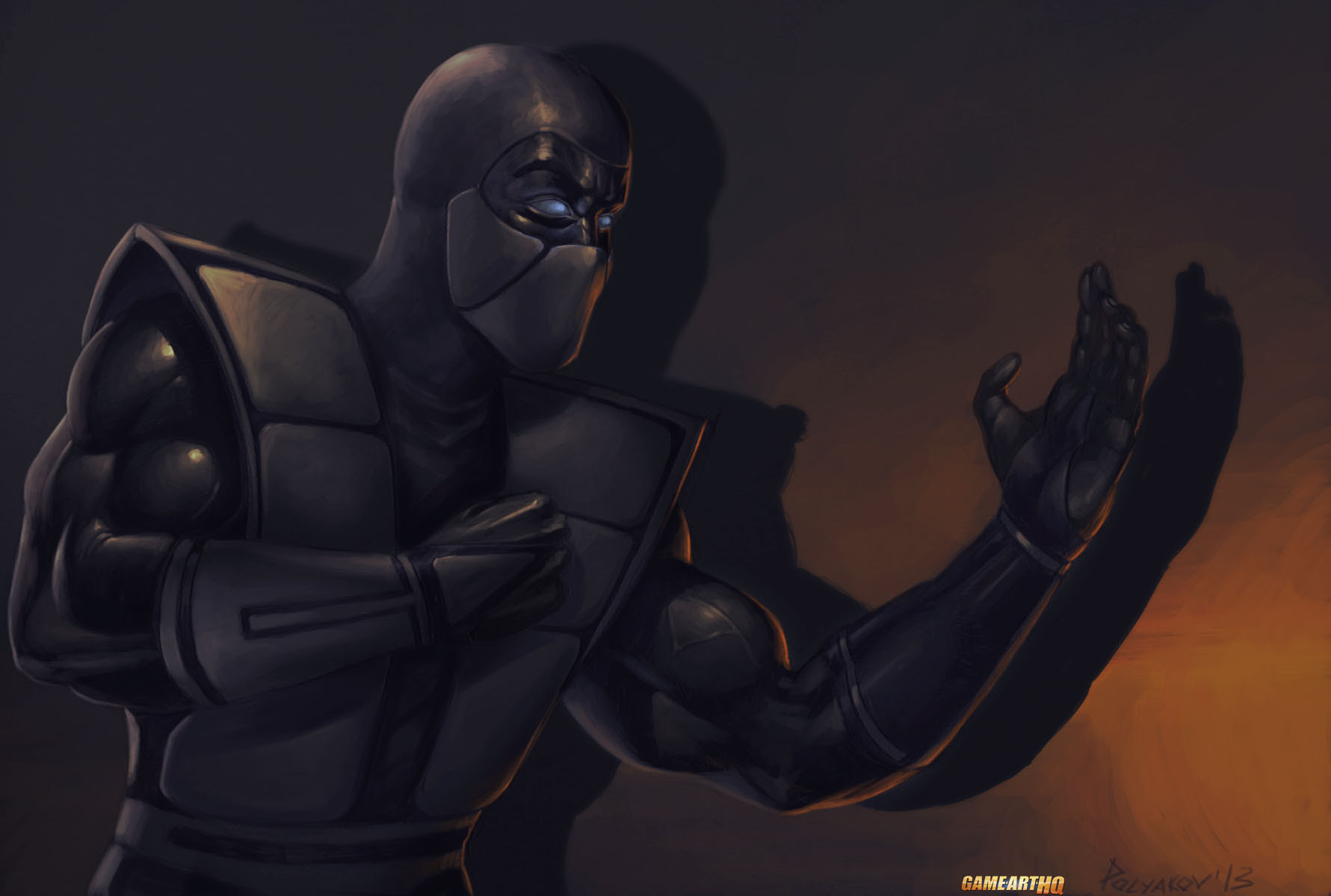 Mk Art Tribute Noob Saibot From Mortal Kombat 3 Trilogy