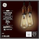 GE LED Light Bulbs, St19, Clear Warm White, 6-Watts, 560 Lumens, 2-Pk. by True Value