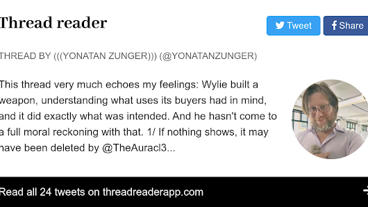 Unrolled thread from @yonatanzunger