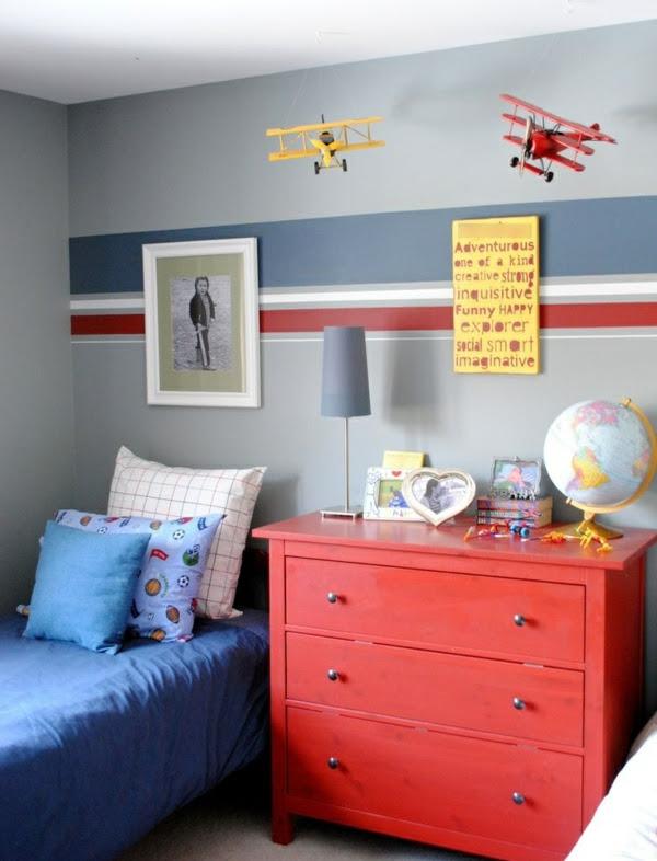 Kinderzimmer f\u00fcr Jungs farbige Einrichtungsideen