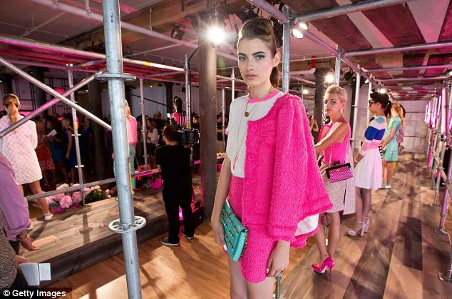 Colour pop: Quiff up-dos set the scene for neon tweed suits and boxy day bags