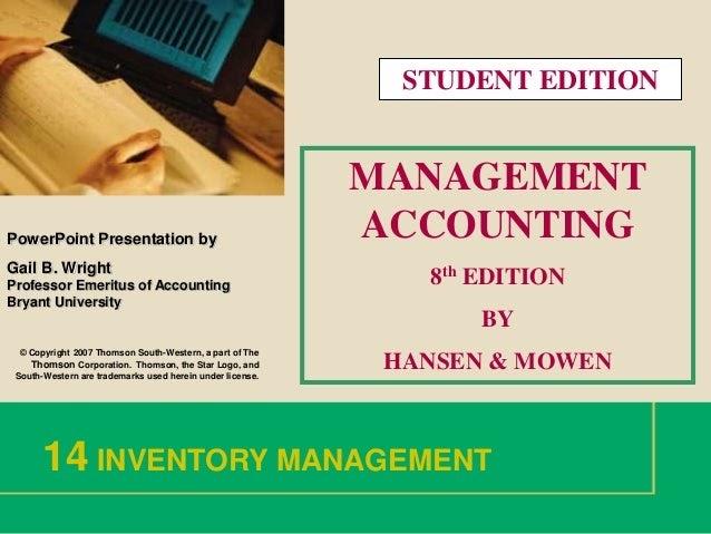 01/09/2014· download to read offline. Kunci Jawaban Akuntansi Manajerial Hansen Mowen Buku 1