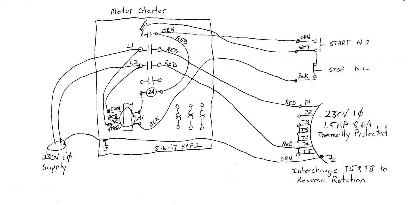 220 Volt 3 Phase Wiring Diagram