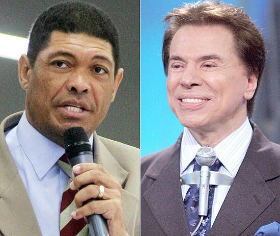 O pastor Valdemiro Santiago e o apresentador Silvio Santos