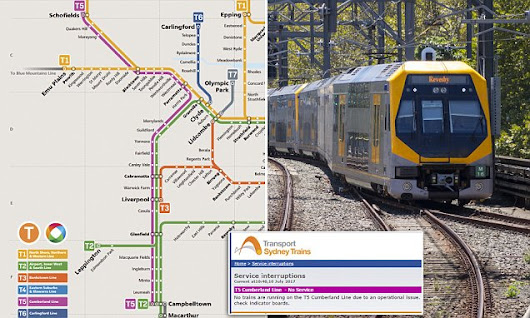 Sydney's T5 train line suspended after asbestos in driver's carriages