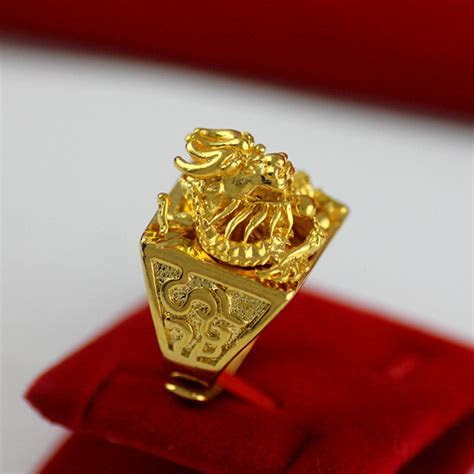 Lifelike Chinese Dragon Shaped Band Ring for Men Real