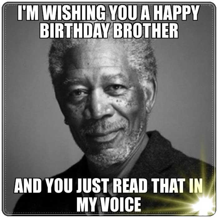 funny happy birthday brother meme