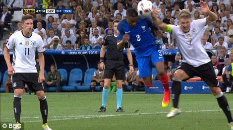 Schweinsteiger's arms was raised in an unnatural position and referee Rizzoli was right to award a penalty, according to Sportsmail's Graham Poll