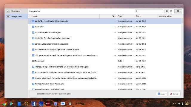 Image Source: Wikipedia - A screenshot of Google Drive mounted in Chromebook's file manager in Chrome OS.