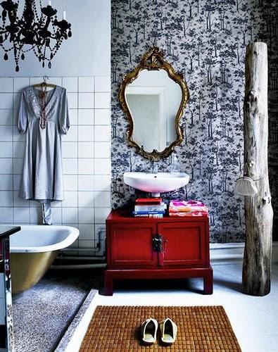 August, 2009 eclectic bathroom