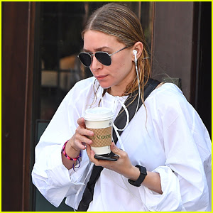 Ashley Olsen Dons Wet Hair While Leaving Lunch