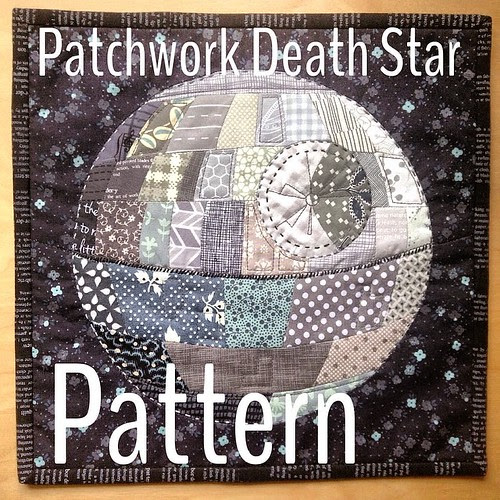 quirky granola girl: Patchwork Death Star Pattern