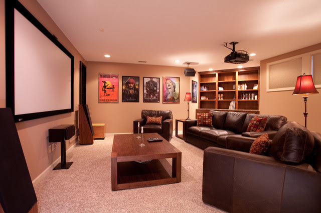 Mayfair Lane Basement Media Room Remodel