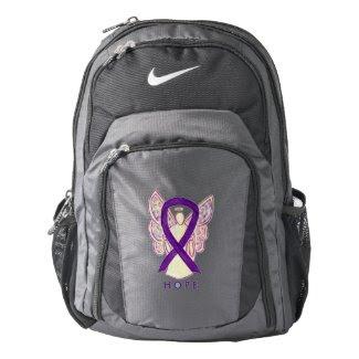 Purple Awareness Ribbon Angel Customized Backpack
