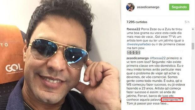 Zeze di Camargo falando sobre Wesley Safadão (Foto: Instagram / Reprodução)