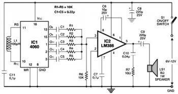 Multitone Alarm Sound Generator « Audio Circuit