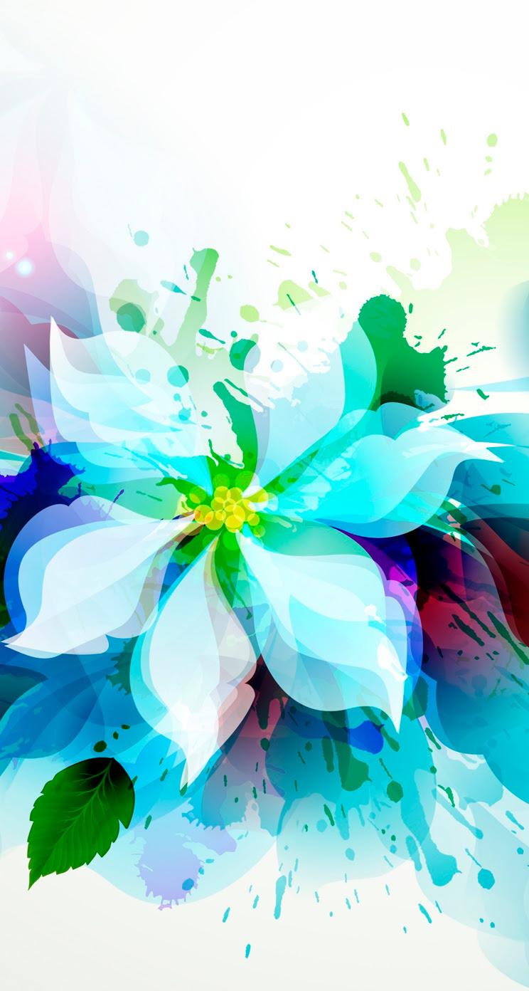 綺麗な花のイラスト Iphone5 スマホ壁紙 Wallpaperbox