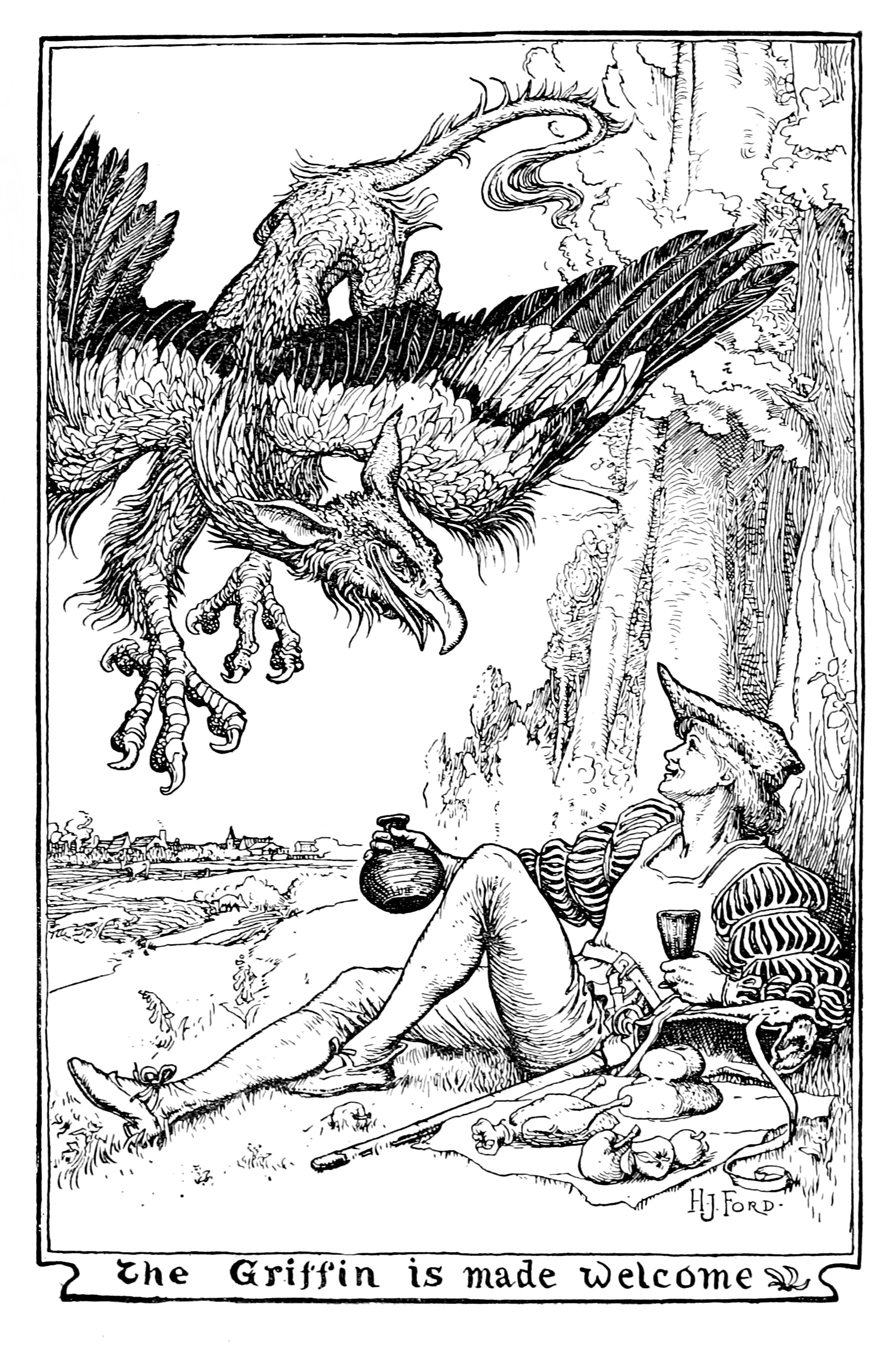 Henry Justice Ford - The pink fairy book, edited by Andrew Lang, 1897 (illustration 11)