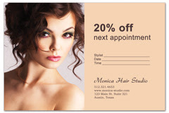 PCS-1001 - salon postcard flyer