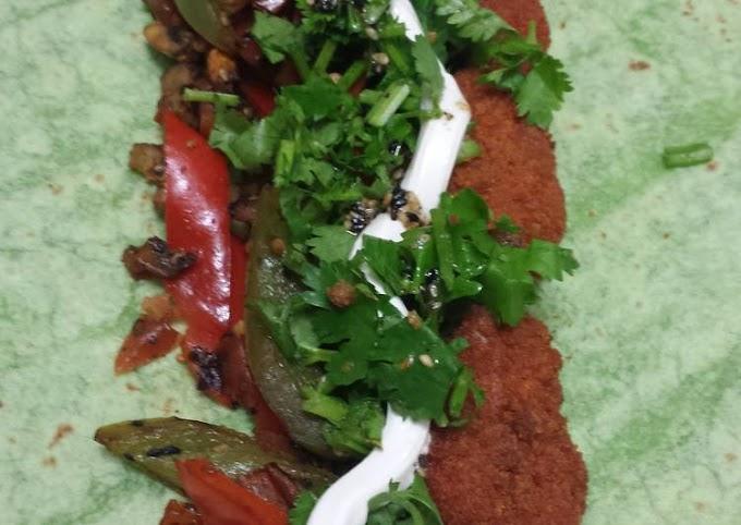 Steps to Make Award-winning Vegetarian buffalo wings spinach wrap