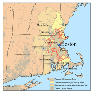 Map of the Greater Boston