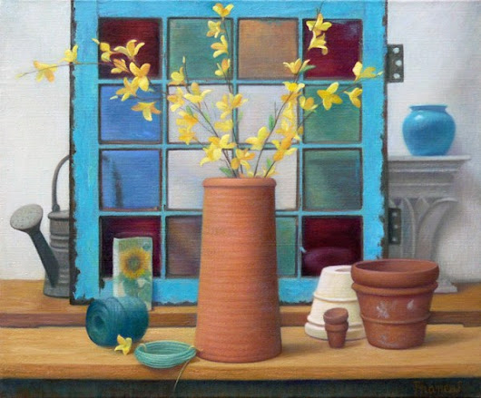 Springtime Still Life Paintings~ Greenhouse Medley -