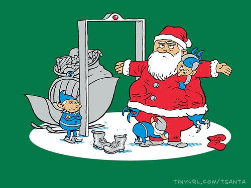 TSAnta Claus on shirt.woot by Ape Lad