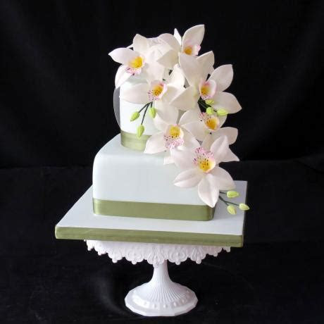 White Orchids White Orchid Wedding cakes.